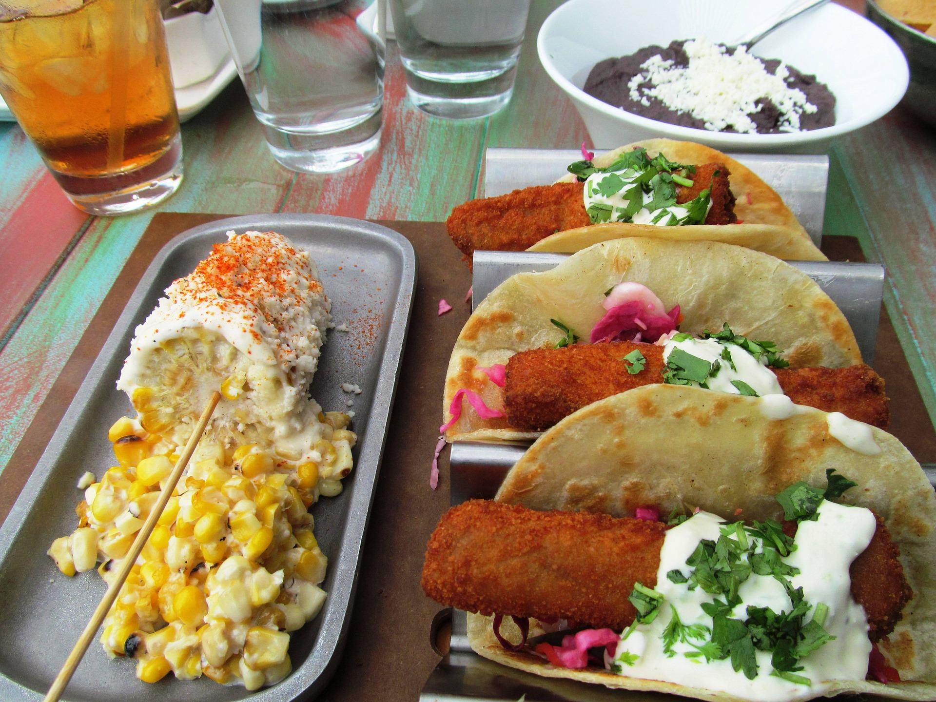 Try one of The Friendly Spot's many delicious tacos  while relaxing in the afternoon sun.